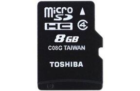 ΚΑΡΤΑ ΜΝΗΜΗΣ MICRO SD HC TOSHIBA 8GB